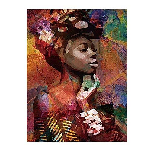 SWIDUUK Leinwandbild mit Meeresfrüchten, Afrikanische Frau, Wandbild, Büro, Wohnzimmer, Dekoration, Bilder auf Leinwand, Wandaufkleber, Kunst für Schlafzimmer, Heimdekoration, Canvas, 1#, 50 x 70 cm -