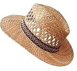 Herrenhüte/Damenhut Klassischer Strohhut Gr.57 geschwungene Krempe 7,5 cm