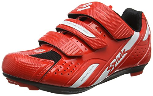 Spiuk Rodda Road - Zapatillas Unisex, Color Rojo/Blanco, Talla 43