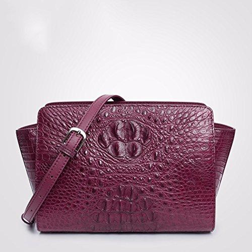 lpkone-Style Alligator Mesdames sacs à main, les ailes de la mode européenne baodan sac à bandoulière sac Messenger Purple