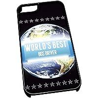 Nero-Cover per iPhone 5/5s, motivo: Worlds Best 1098 Bus Driver Job