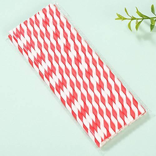 Huizheng Umweltfreundliches Papier Straws_Color umweltfreundliches Papier Straws Dessert Table Wedding Disposable Paper @ Pink Spiral Straw 25