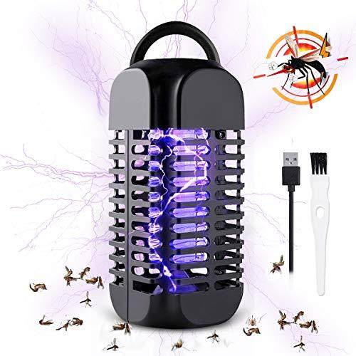 Baban zanzariera elettrica usb/lampada antizanzare mini,Viene fornito con un pennello di pulizia+linea USB, LED vioette di luce di 356nm-400nm;2 W-20㎡, 80 * 80 * 180mm,per casa ufficio patio cucina