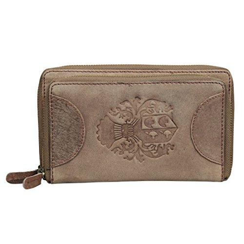 Style98 Brown Hunter Leather Handmade Women's Wallet||Clutch||Handbag||handy wallet