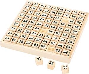 small foot company- Barritas de cálculo 1x1 de Madera, de Forma lúdica aprenden los niños a calcular Juguetes, (Small Foot by Legler 10953)