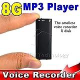Ryrty(TM) Flash Disk Drive + 8G Mini Digital Audio Recorder dittafono Voice 3 in 1 MP3 USB Stereo musica Player + 8GB di memoria di archiviazione