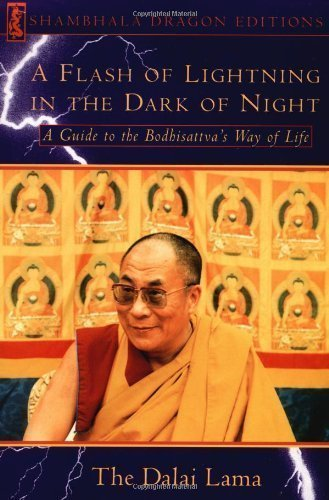 A Flash Lightning in the Dark of Night: Guide to the Bodhisattva's Way of Life (Shambhala Dragon Editions) by Dalai Lama XIV (Bstan-'dzin-rgya-mtsho) ( 1994 )