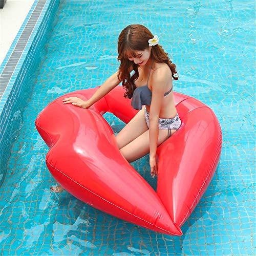 SSBH Aufblasbare Luscious Lip Schwimmringe, Lip Floating Row Green Pvc Wasser Aufblasbares Schwimmbett, Swim Party Toys, Summer Pool Float Raft Lounger Für Erwachsene & Kinder (Color : 180 * 160cm)