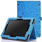 MoKo Amazon Kindle Fire HD 7 2014 Case - Sottile Pieghevole Cover Custodia per Amazon Kindle Fire HD 7 Inch 2014 Tablet, Carino Charm BLU (Con Smart Cover Auto Sveglia/Sonno)
