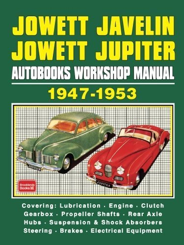 Jowett Javelin Jowett Jupiter Autobooks Workshop Manual 1947-1953 by Brooklands Books Ltd (1969-03-04) (Javelin 1969)