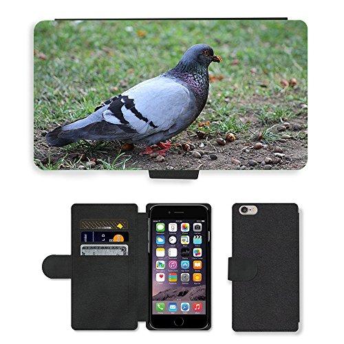 Just Mobile pour Hot Style Téléphone portable étui portefeuille en cuir PU avec fente pour carte//m00139208Pigeons Oiseau Gris//Apple iPhone 6Plus 14cm