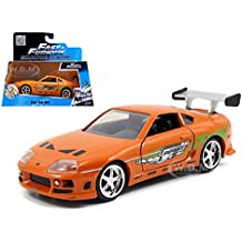 "Brian's Toyota Supra Orange ""Fast & Furious"" Movie 1/32 by Jada 97345 by Toyota"