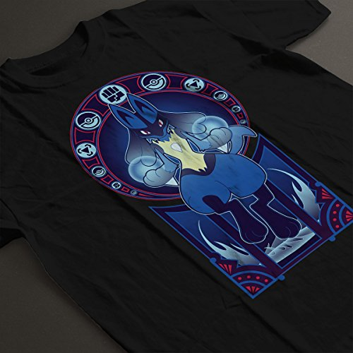 Pokemon Lucario Art Of The Fighter Women's T-Shirt Black