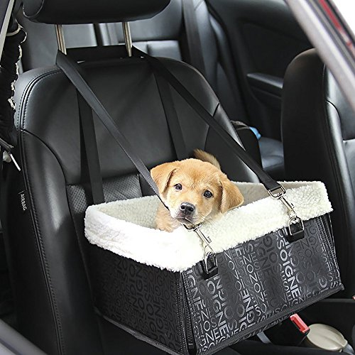 Hmcity Foldable Pet Dog Cat Car Booster Seat Bag Carrier Tote Travel Bed Luxury Lookout With Fur DOG PET PUPPY TRAVEL CAGE