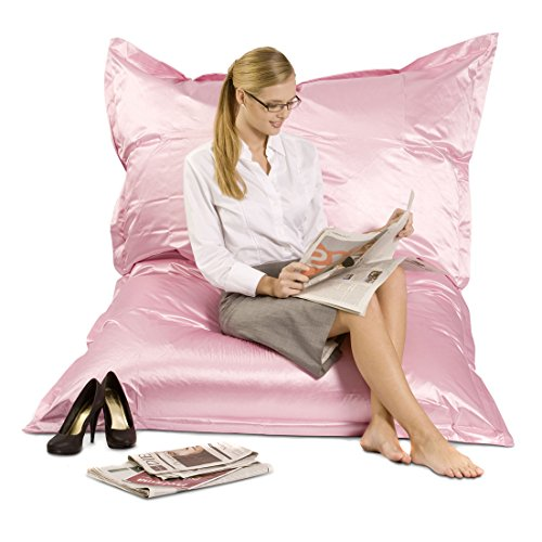 Unbekannt Smoothy XXL Sitzsack - Riesensitzsack Outdoor Metallic Edition - Rosé-Rosa-Pink