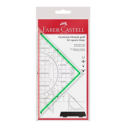 Faber Castell 177090 - Zeichendreieck groß, mit Griff -