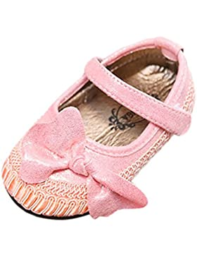 TPulling Mode Mädchen Einzelne Schuhe Bogen Stricken Lederschuhe Weichen Boden Erbsen Schuhe