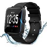Smartwatch Smart Armbanduhr Wasserdicht IP67 Smart Watch sports watch Fitness Tracker mit Pulsmesser Aktivitätstracker Fitness Uhr mit Schrittzähler,Schlaf-Monitor,Stoppuhr für Android iOS Handy