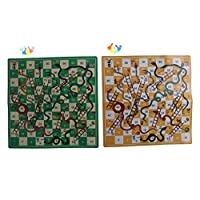 FADACAI Kids Folding Snake Chess Toys Snakes ladders Puzzle Game Preschool Toys 2 Set
