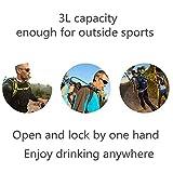 Blusmart Trinkbeutel 3L Trinkblase Auslaufsicher Trinksystem Blase Geruchsfrei Wasser Beutel reservoir für Touren, Camping, Wandern, Laufen, Radfahren, Reisen und andere Sport-Aktivitäten (BPA-frei und FDA-Zertifizierung) -