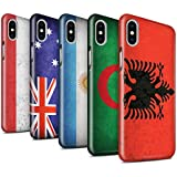 STUFF4 Glanz Snap-On Hülle / Case für Apple iPhone X/10 / Pack 53pcs / Flagge Kollektion