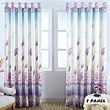 Kinlo 145x245cm lila Schilf blickdicht Verdunkelungsvorhang Vorhang Gardine Verdunkelungsgardine aus Polyester für Fenster Wohnzimmer(1pcs)