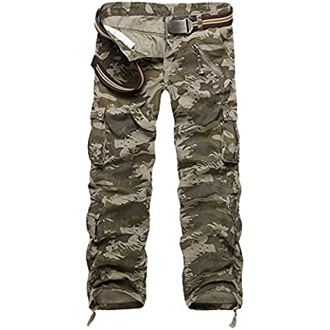 Minetom Release Pantaloni da Uomo sportivi Casual Pantaloni cargo Stile Militare Shorts in (88 Camo)