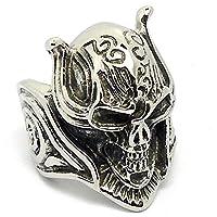 Unisex's Titanium Steel Finger Rings Personalized Spike Skull Black Size X 1/2 - Adisaer Jewelry