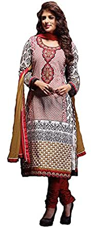 Maroon & Off White Colour Cotton Casual & Printed Plazo Suit 102B