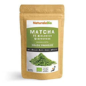 Thé Matcha de Cuisine Bio Japonais 100 g | Thé Vert Matcha en Poudre Premium Qualité | Matcha Green Tea Produit au Japon Uji, Kyoto | Idéal pour Cuisiner et dans le Lait | NATURALEBIO®