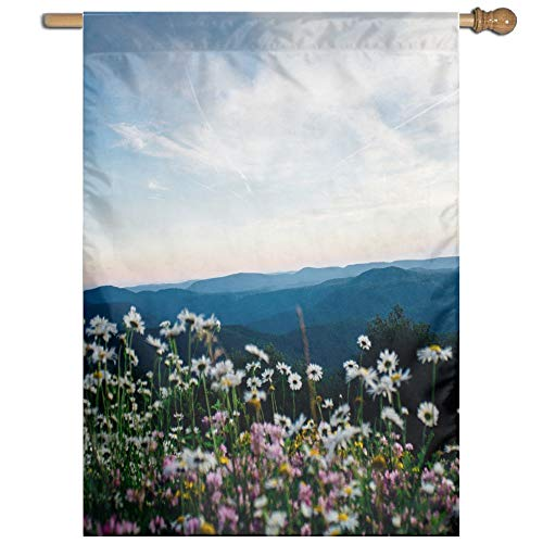 Kotdeqay Spring Flowers Floral Polyester Garden Flag Outdoor Banner 28 x 40 inch, Nature Seasonal Greeting Decorative Large House Flags M13 Kotdeqay