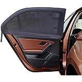 MIDWEC 4 Pièces Pare-Soleil pour vitre de voiture, protège bébé du soleil, universel, s'adapte sur la majorité des voitures, double couche