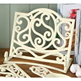 Fabulous Cast Iron Cook book Stand Cream Kitchen Book Holder & new Design