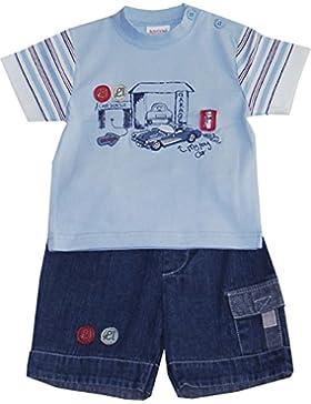 Schnizler Jungen Short Cars 2 Tlg. mit Jeans Bermuda und T-shirt