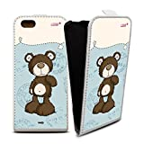 YOUNiiK Mobile Phone Flip Case (White) for Apple iPhone 6/6S – NICI Classic Bear Brown