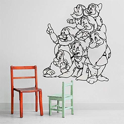 Dessin animé conte de fées film Sticker Mignon Film Neige Blanc Stickers Muraux Pour Enfants Chambres Sept Nains Filles Home Decor Enfants 42 * 50 cm