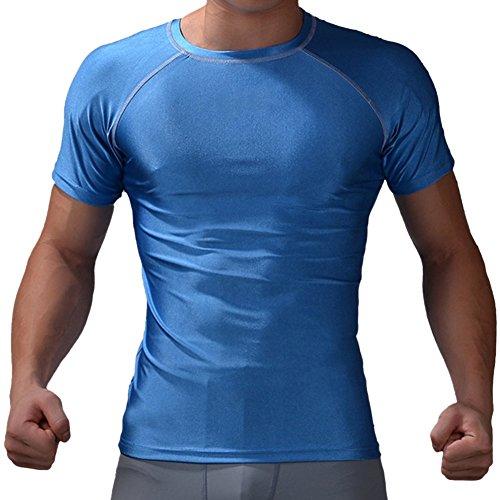 Adler-workout T-shirt (M.Baxter Herren COOL Compression 3.0 Shortsleeve Tee Shirt Kompressionsshirt Kurzarm)