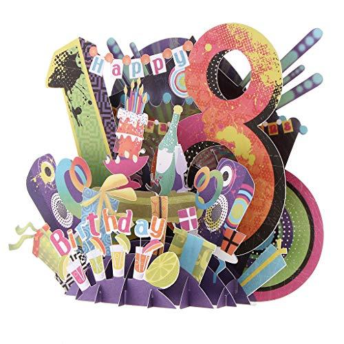 18. Geburtstag Karten Grußkarten Glückwunschkarten mit Einzigartigen Design als Geschenk