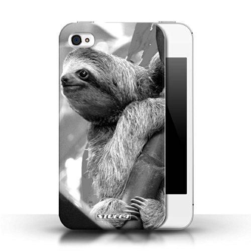 Stuff4 Hülle / Hülle für Apple iPhone 4/4S / Wolf Muster / Zoo-Tiere Kollektion Faultier