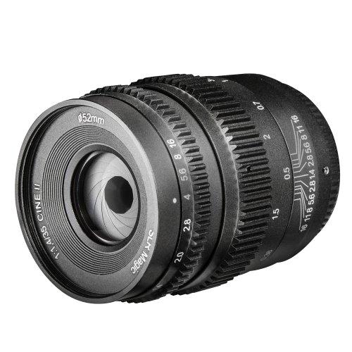 SLR Magic Cine II 35mm 1:1,4 Objektiv für Sony E-Mount Objektivbajonett schwarz (manueller Fokus, für APS-C gerechnet, Filterdurchmesser 52mm, Zahnkränze an Blenden- und Fokusring, stufenlose Blende) (Magic Slr E-mount)