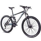 CHRISSON 29 Zoll Mountainbike Fully - Hitter FSF grau blau - Vollfederung...