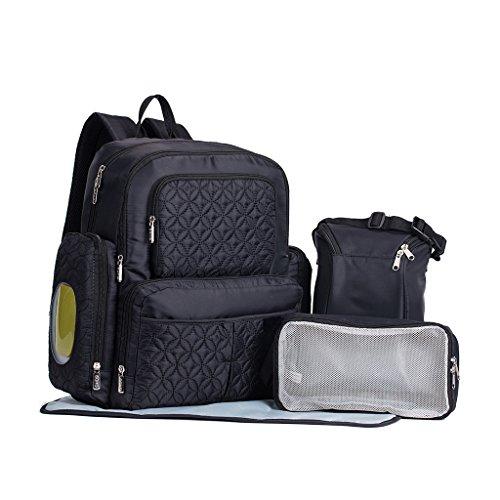 Preisvergleich Produktbild YuHan Oxford Wickeltasche, Wickelrucksack, Wickelauflage, passend für Kinderwägen
