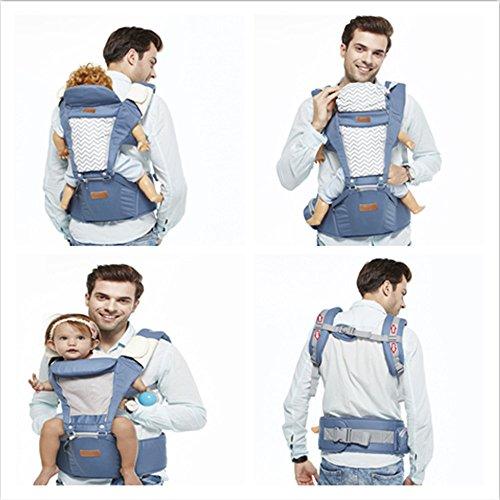 d9949e50fc04 Boyovo Porte-bébé siège de hanche, sac à dos, écharpe 6 en 1 pour toutes les  ...