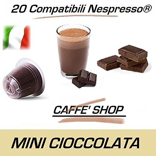 Caffè Shop Cápsulas compatibles Nespresso, Cápsulas Mezcla Mini Ciok - Mini Chocolate Linea Espresso (20 Cápsulas)