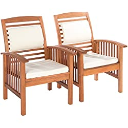 Ultranatura Canberra - Set de 2 sillones lounge, madera de eucalipto