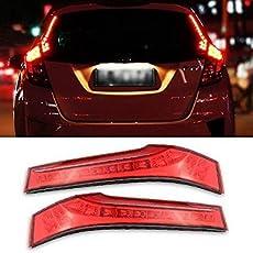 JIANVISH Direct Reflector Replacement Matching Red Lens 14-LED Lights Rear Side Pillar Tail Brake Lamps For Honda Jazz1.2 SV i-VTEC Petrol