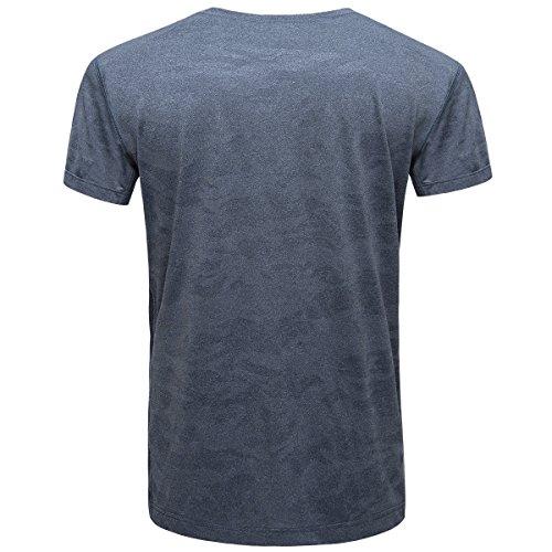 FREE SOLDIER Taktisch T-Shirt Atmungsaktives Schnell trocknend Elastisch Rundhals Kurzarm T-Shirt Blau