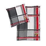 VFB Stuttgart Bettwäsche 100% Baumwolle Kissen 80x80cm Decke 135x200 cm Design Verlängerung