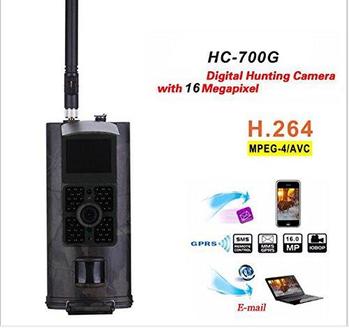 Haoxuan Hinterwild-Kamera, 16MP 1080P HD 2.4inch LCD-Schirm IP56 imprägniern 120 ° breites Infrarot 20M/65FT Nachtsicht-Jagd-Spiel-Nocken