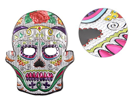 Alsino Halloween Maske Skelett Gruselmaske Totenkopfmaske Kunststoff-Maske Totenkopf Schädel Horrormaske, Variante wählen:P973037-1